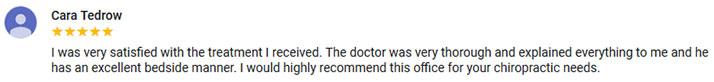 Chiropractic Pawtucket RI Testimonial