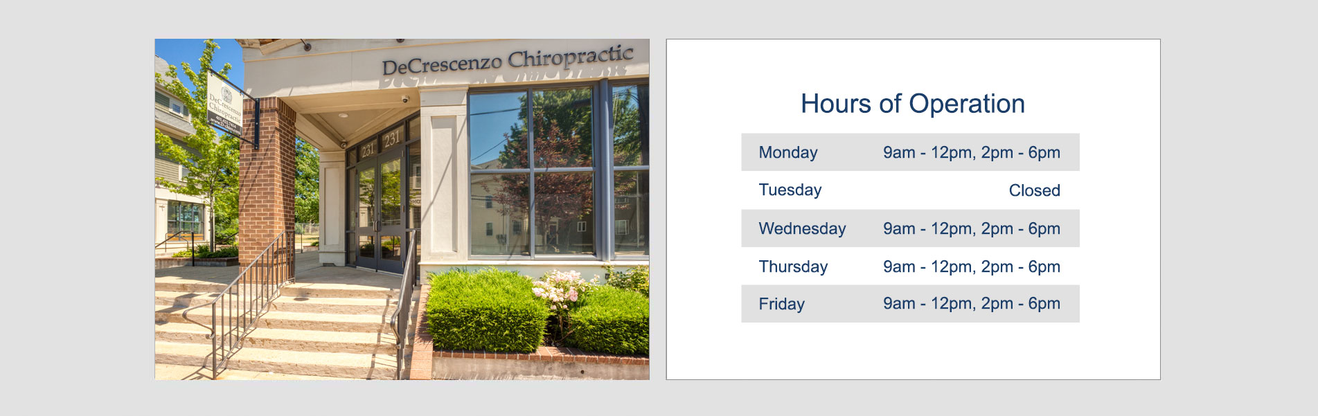 Chiropractic Providence RI Office Hours